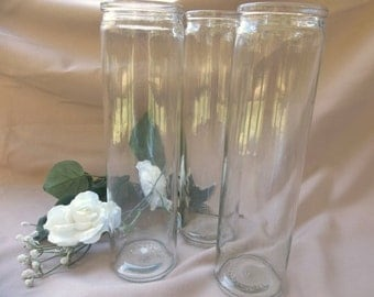 Tall Clear Glass Vase, Glass Vase, Crafts, Wedding Centerpiece, Home Decor, Incense Holder, Wedding Shower Vase, Vase, Party Decor
