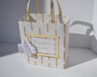 Roaring 20's design, Old Hollywood, party favor bag, Great Gatsby theme