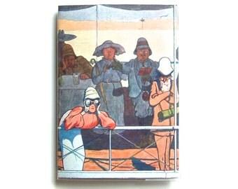 "Passport Cover: Vintage Egypt, ""Up the Nile"" Travel Design, Antique Multi-Color Artwork"