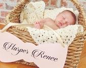 Monogram Baby Name Sign, Bow Tie Baby Shower Decor, Baby Gender Reveal, Hospital Door Hanger, Baby Announcement, Shower Decorations