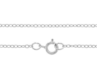 """Sterling Silver 2x1.5mm 22""""  Flat cable neck chain - 1pc Finished chain 10% discounted 925 stamped (4229)/1"""