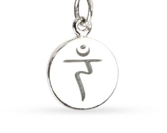 Etched Solar Plexus Chakra On Disk Sterling Silver 10x1.2mm  - 1pc Wholesale Price (10433)/1
