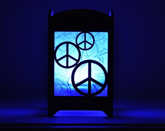 Peace Sign Light Box - Multicolor LED Candle