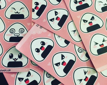 Kawaii Onigiri Sticker Set 1