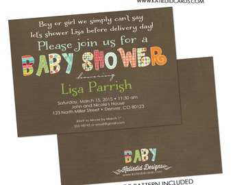 gender neutral baby shower invitations gender reveal baby sprinkle sip and see twin diaper couples book (item 1336) shabby chic invitations