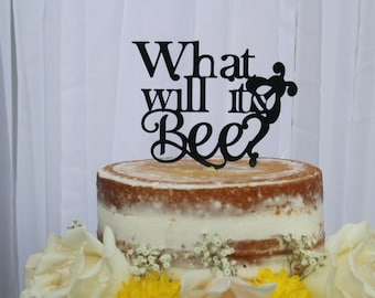 Acrylic Cake Topper/Bumble bee/Bee Baby/Babee/What Will It Be/Gender Reveal