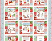 Storybook Christmas Quilt Kit by Wendy Sheppard featuring Whistler's Studio Storybook Christmas Fabrics by Windham Fabrics -includes backing
