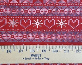 Fair Isle Pattern on Cotton jersey Knit FAbric