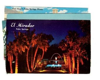 4 Vintage Palm Springs California Postcards Used