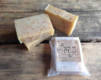 Handmade olive oil soap - with karma essential oil blend, vegan