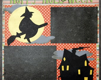 Premade Scrapbook Page 12 x 12 -Halloween