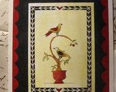 Fraktur Card 5 x 7  Folk Art Greeting Card