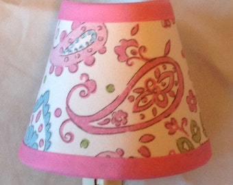 Pink Brooklyn Paisley Girls Night Light M2M Pottery Barn Kids Bedding