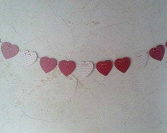Banner of Hearts.... Red and Love...11 Hearts long