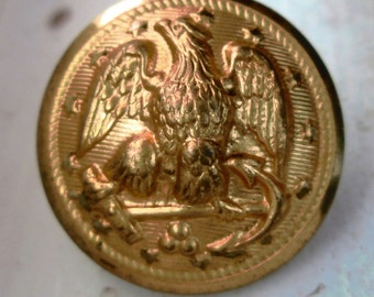 8 Brass Buttons with Eagles and Anchors.  Waterbury Superior Quality.  Sewing, Arts, Crafts, Projects.  G-080