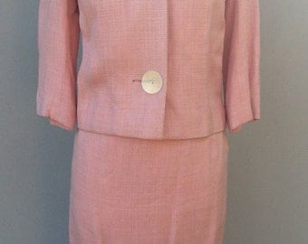1960s Vintage Pink Skirt Suit with Blazer
