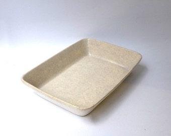 ON SALE Vintage mid century rectangular stoneware baking dish