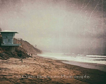 Vintage Style Photograph Beach Scene Frameable Photographic Print 8x12