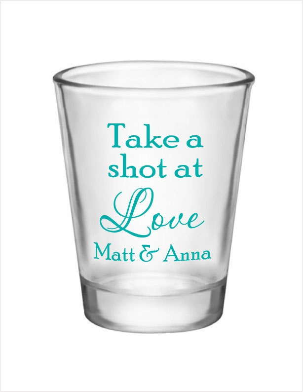 wedding favors 24 personalized glass shot glasses new