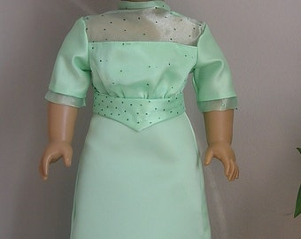 Edwardian Satin Dress for 18 Inch or American Girl Doll