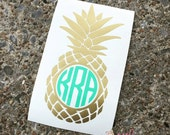 Pineapple Vinyl Monogram Decal- Monogram Sticker- DIY Monogram