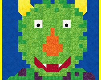 Monster Quilt Pattern - PDF