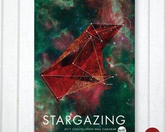 "2017 ""Stargazing"" Constellation Wall Calendar"