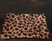 "Leopard  Pouch 5""x8  1/4"""