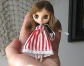 Petite Blythe doll with free handmade clothes