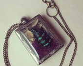Insect terrarium necklace