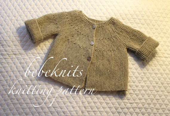 Modern Cardigan Knitting Patterns : Bebeknits Modern European Toddler Cardigan Knitting Pattern