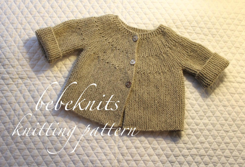 European Knitting Patterns : Bebeknits Modern European Toddler Cardigan Knitting Pattern