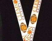 Clemson University Inspired Lanyard With Swivel Lobster Clasp & Safety Breakaway FREE SHIPPING!!