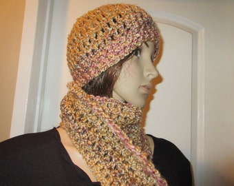 Earthone Scarf and Hat Set