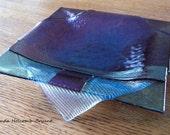 Floating Blue Iridescent Soap Dish