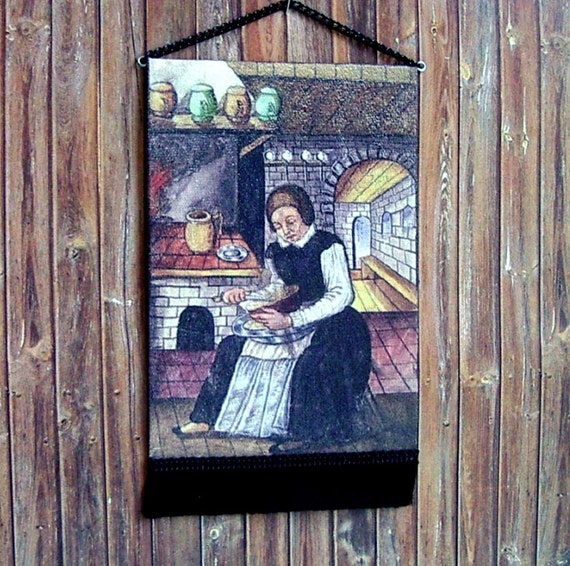Mistress Of The Hearth Tapestry Medieval Cook Dollhouse