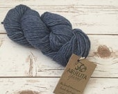 Denim Blue Hand Dyed Pure Merino Wool Yarn