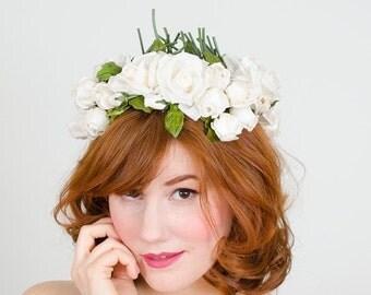 25% OFF SALE / 1950s vintage hat / flower hat / Bridal Bouquet