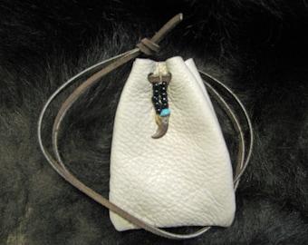 Raccoon Totem Medicine Bag Leather Bag Pouch Handmade