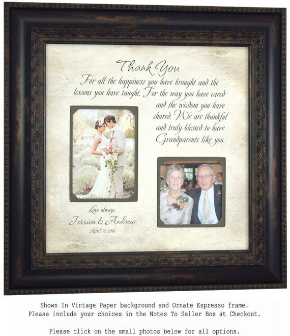 Personalized Grandparents Picture Frame By Photoframeoriginals