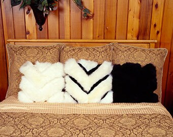 Designer Handmade Merino Sheepskin Pillow