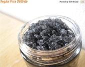 Labor Day Sale Blacksmith Activated Charcoal Dead Sea Salt Scrub - 2 oz glass jar