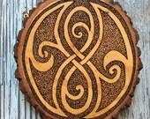 Seal of Rassilon - Handmade Plaque