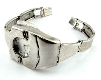 925 silver Oblong Watch, Bracelet Watch, Jewelry Watch, Women Original Handmade sterling Silver 925 Watch, Gift, Ready to ship (w 3017)
