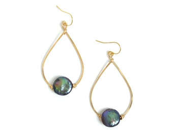Pearl Teardrop Earrings - Bridesmaid Gift