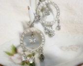 Stunning Rhinestone Earrings, Wedding Earrings,Screw Back style