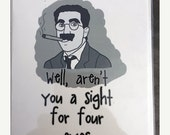 1 DAY SALE- Groucho Marx Card