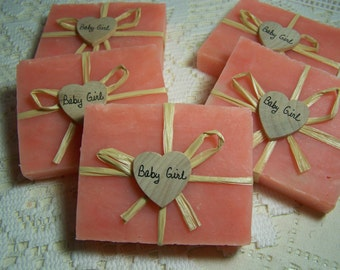 Baby Shower favors. 30 pink soaps, Baby Girl favors
