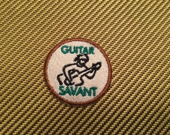 Guitar Merit Badge - Embroidered