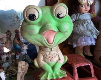 This Vintage Squeaker Frog Needs A Bath
